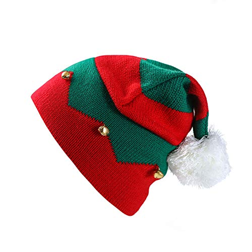 Christmas Elf Knitted Hat, Xmas Baby Beanie Knit Hat for Children: 1 to 6 Years Old