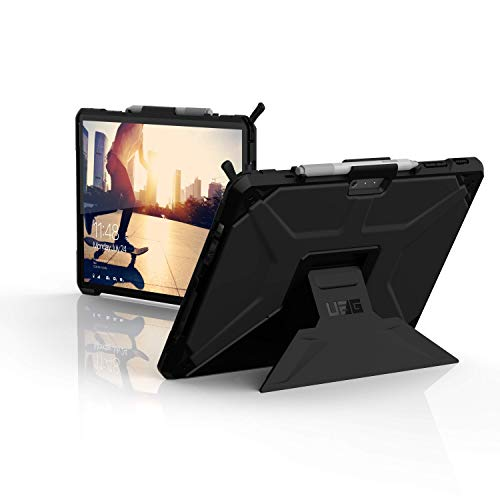 Urban Armor Gear Metropolis SE Funda Microsoft Surface Pro 7 / Pro 7+ / Pro 6 / Pro 5 / Pro 4 [Designed for Surface, Type-Cover Compatible, Microsoft Surface Pen Soporte, Función Soporte] Negro