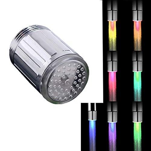 LED Wasserhahn Mini Leuchtend Licht 7-Farbwechsel Wasserhahnaufsatz LED Wasserhahn Aufsatz für Waschbecken Bad Küche Armatur