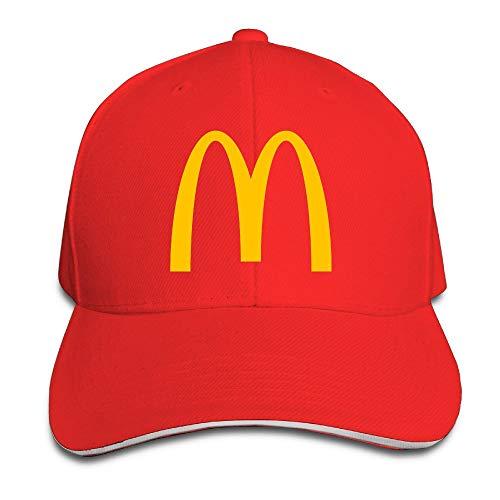 Zahhdasd Unisex McDonalds Logo Adjustable Snapback Baseball cap RoyalBlue One Size