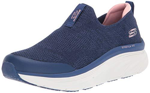 Skechers womens D'lux Walker - Quick Upgrade Sneaker, Navy/Pink, 8.5 US