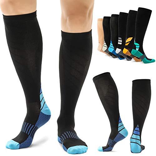 Alvada Compression Socks for Men amp Women 1 Pair 4027 Blue M