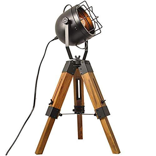 GBYN Lámpara de pie, Europa y los Estados Unidos Moda Simple lámpara de Mesa Decorativa lámpara de pie Retro lámpara de Mesa de Madera de Tres Patas