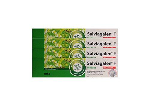 4x Salviagalen F Madaus Zahncreme 75ml PZN 11548356 Zahnpasta