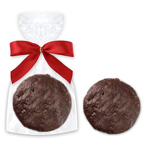Feine Oblatenlebkuchen - Einzelverpackt - ca. 7,5cm (ca. 30g) - Weich & Saftig - Lebkuchen Geschenke & Giveaways Weihnachten Lebkuchen mit Oblate LEBKUCHEN WELT