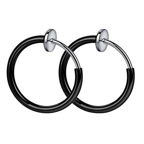 Taloit Retractable Earrings, No Need Piercing Men Women Classic Hip-hop Style Hoop Earrings