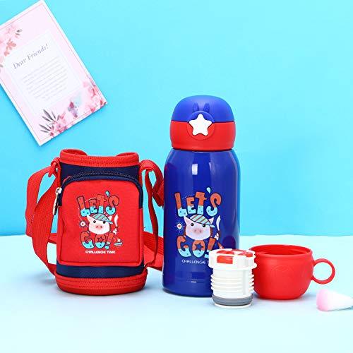 Xme Taza Infantil de Acero Inoxidable, 316 Tazas Creativas para Exteriores, con Mochila Star Cup