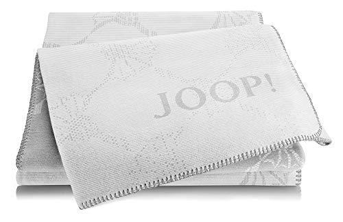 Joop!® Cornflower Double I flauschig-weiche Kuscheldecke in Silber-Rauch I Wohndecke aus Baumwollmischgewebe | Tagesdecke 150x200cm | nachhaltig produziert in Deutschland I Öko-Tex Standard 100