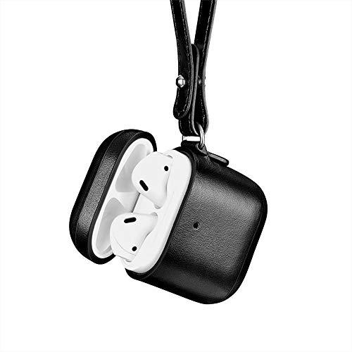 LICHIFIT Echt Lederen Hoesje Beschermende Huid voor Apple Airpods 2 Hoofdtelefoon Opladen Doos Vintage Lederen Ontwerp Accessoires