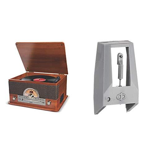 【セット買い】ION Audio レトロ調 ミュージックプレーヤー 7種再生【レコード、カセット、CD、ラジオ、USB、Bluetooth、外部入力】 Superior LP & 交換針 LPシリーズ用 PT01-RSSP