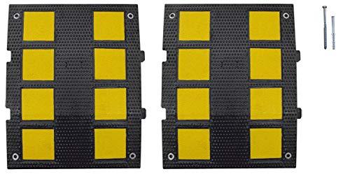 Kit de 2 bandas reductoras de velocidad de caucho 600x470x 30mm. Badén...