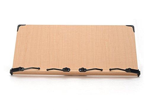 2017年新型 見やすい角度に14段階調節 木製ブックスタンド 2冊同時に読書可能 大型・ワイドサイズ(59cm×26.5cm) 折りたたみ式 書見台 タブレット台(メーカー直輸入/日本語説明紙付き)