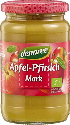 dennree Apfel-Pfirsich-Mark, ungesüßt (360 g) - Bio