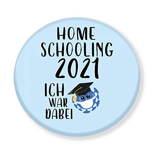 Polarkind Button Pin Anstecker Homeschooling 2021 Ich war dabei Schulkind Geschenk Schulanfang Schultüte Lehrer 38mm