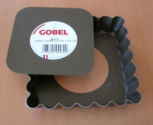 GOBEL Moule à tartelette 10 x 10 cm fond mobile Anti-Adhérent 294470