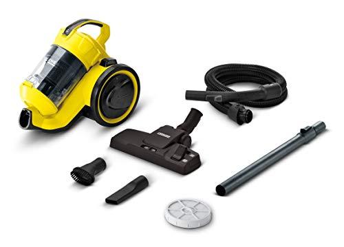 Kärcher Staubsauger VC 3 beutellos, Bodenstaubsauger mit Komfortausstattung, hocheffizienter Hepa-Filter, 700 Watt, gelb-schwarz, handlich, leise & allergikerfreundlich - 2