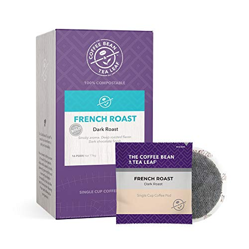 The Coffee Bean & Tea Leaf French Dark Roast Single Cup Soft Pod 16 Count (Pack of 6) Box, 6Count