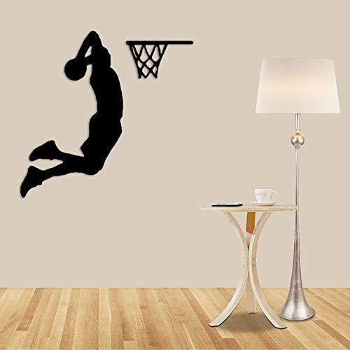 yaonuli Basketball Sport Wandaufkleber Abnehmbare Sport Boy Basketball Wandmalerei Wand Sport Schlafzimmer Dekoration Geschenk 42x42 cm