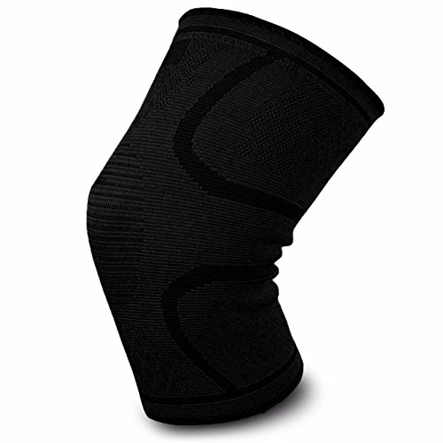 Kemett Knee Brace Support Compression Sleeves, Straps for Running,Jogging, Cross Fit, Sports, Joint Pain Relief, Arthritis and Injury Recovery Pads and More.