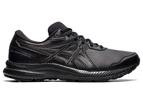 ASICS Men's Gel-Contend SL Walking Shoes, 9.5, Black/Black