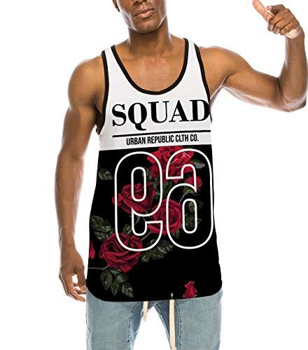UrbanMax Tank Tops for Men Hipster Hip Hop Urban Streetwear Print (L, TT-010)