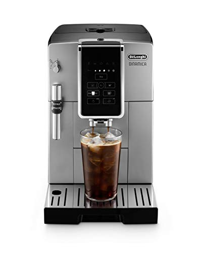 DeLonghi Dinamica Automatic Coffee, Espresso Machine TrueBrew Iced-Coffee, Burr Grinder