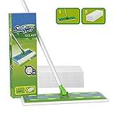 Swiffer Starter Kit XXL Scopa con 1 Manico + 8 Panni di Ricambio, per Catturare E Intrappo...