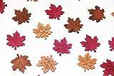 frd 72 STK Herbstblätter Holz braun Hellbraun violett Dekoration Holzblätter