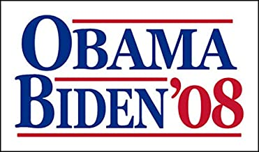 American Vinyl Vintage Obama Biden '08 Sticker (Election Political Logo 2008)