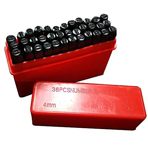 VIN - Placa de identificación de serie para coche, camión, equipo de varilla caliente, remolque, 4 mm, número y sello de letra (número de 4 mm)