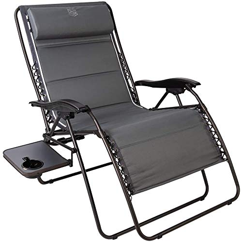 Timber Ridge Zero Gravity Chair Oversized Recliner 600lbs Capacity Patio Lounge Chair Padded Lawn Chair with Headrest XXL for Outdoor, Camping, Patio, Lawn