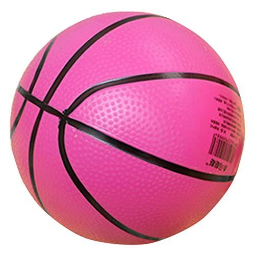 Pelota de Baloncesto Mini Pelota De Baloncesto Hinchable para Interiores / Exteriores, Pelota Deportiva para Niños, Juguete De Regalo, Rosa Roja
