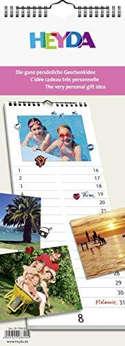 Heyda 2070491 Bastel-/Kreativkalender Streifenkalender (13 Monatsblätter, 160 x 425 mm, Kalendarium immerwährend, Wire-O-Bindung mit Aufhänger): Immerwährender Kalender