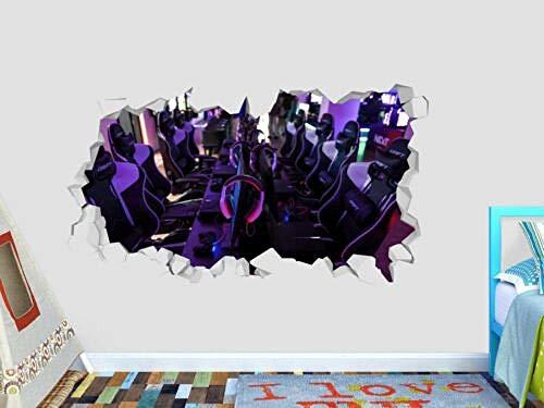 WTQang calcomanías de pared Máquina arcade increíble juego de decoración de calcomanías de pared smash 3d pegatina arte de vinilo