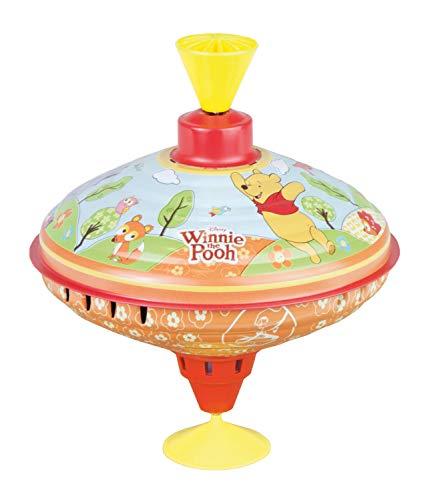 Bolz 52334 Disney Winnie l'Ourson de la Pooh Party, Toupie en Tôle avec Motif Puuh, Toupie avec Pied pour Enfants à partir de 18 m+, Multicolore, 16 cm - Version Allemande