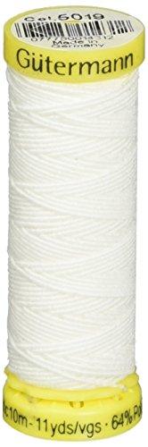 Gutermann Elastic Thread 11 Yards-White