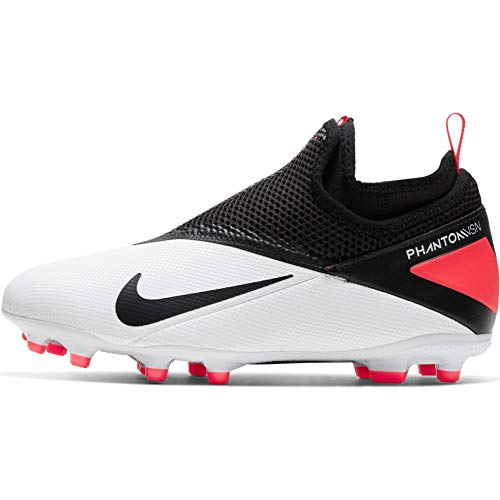 Nike JR Phantom Vision 2 Academy DF FG - White-Black-Crimson 5.5