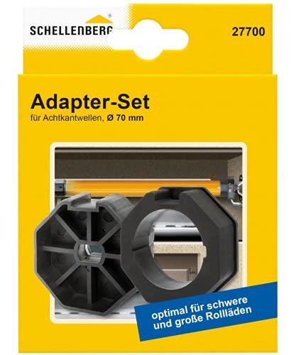 Schellenberg 27700 Adapter Set für 70 mm Wellen, Achtkantwellen mit 70er Durchmesser