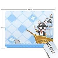 Jiemeil マウスパッド 高級感 おしゃれ 滑り止め PC かっこいい かわいい プレゼント ラップトップ などに ウサギ 海賊 漫画 出発!