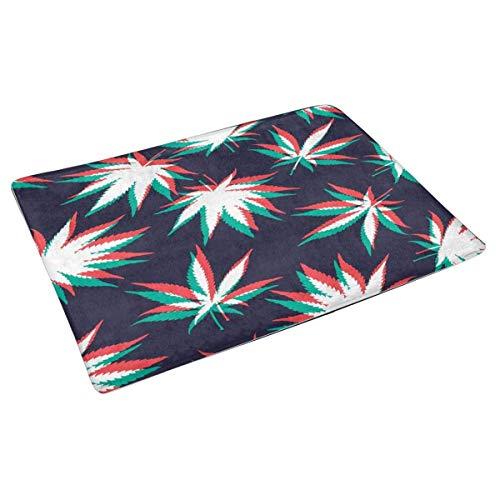 HSXQQ onkruid marihuana patroon achtergrond indoor ingang deurmat niet-slip deur mat ingang tapijten Home Decor
