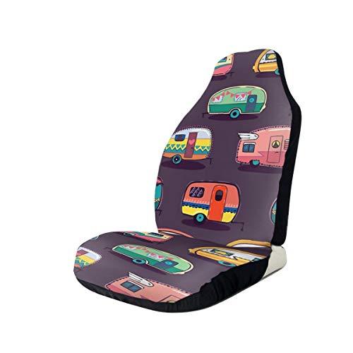 NIET Gelukkige Camper Gooi Kussen Automobile Volledige grootte Bedrukte Stoelhoezen Is Gemakkelijk Te Installeren 2 Stks