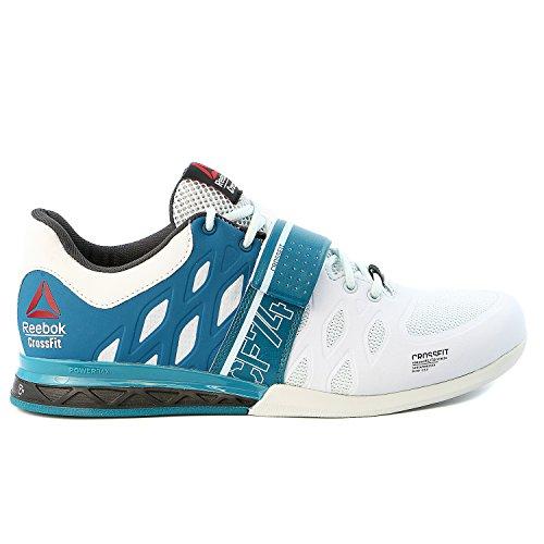 Reebok Men's Crossfit Lifter 2.0 Training Shoe (10 D(M) US, Blue/Emerald/Gravel)
