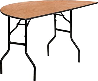 Flash Furniture 60'' Half-Round Wood Folding Banquet Table