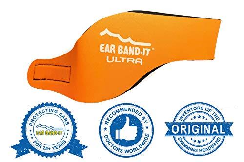 Ear Band-It Stirnband Schwimmen (behalten Wasser, halten Stecker Ohren) empfohlen durch den Arzt und Gewässerschutz Mittel (4-9) Orange