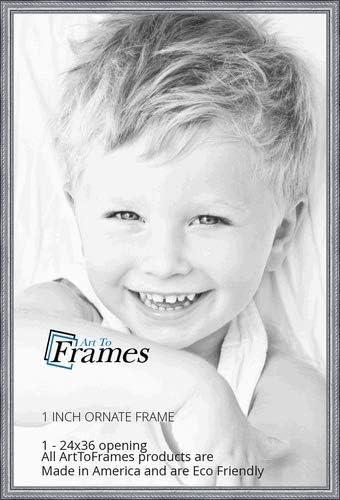 ArtToFrames WOM80801-SLV-24x36 Barnwood favorite Wood 24 Frame x High quality Picture