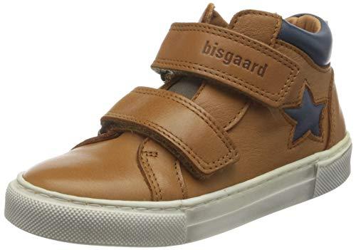 Bisgaard Boys Jacob Velcro Shoe, Cognac, 33 EU