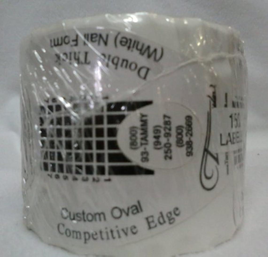 性能確実成果Tammy Taylor Nail Forms - Competitive Edge Style Nail Forms - White Oval 150ct
