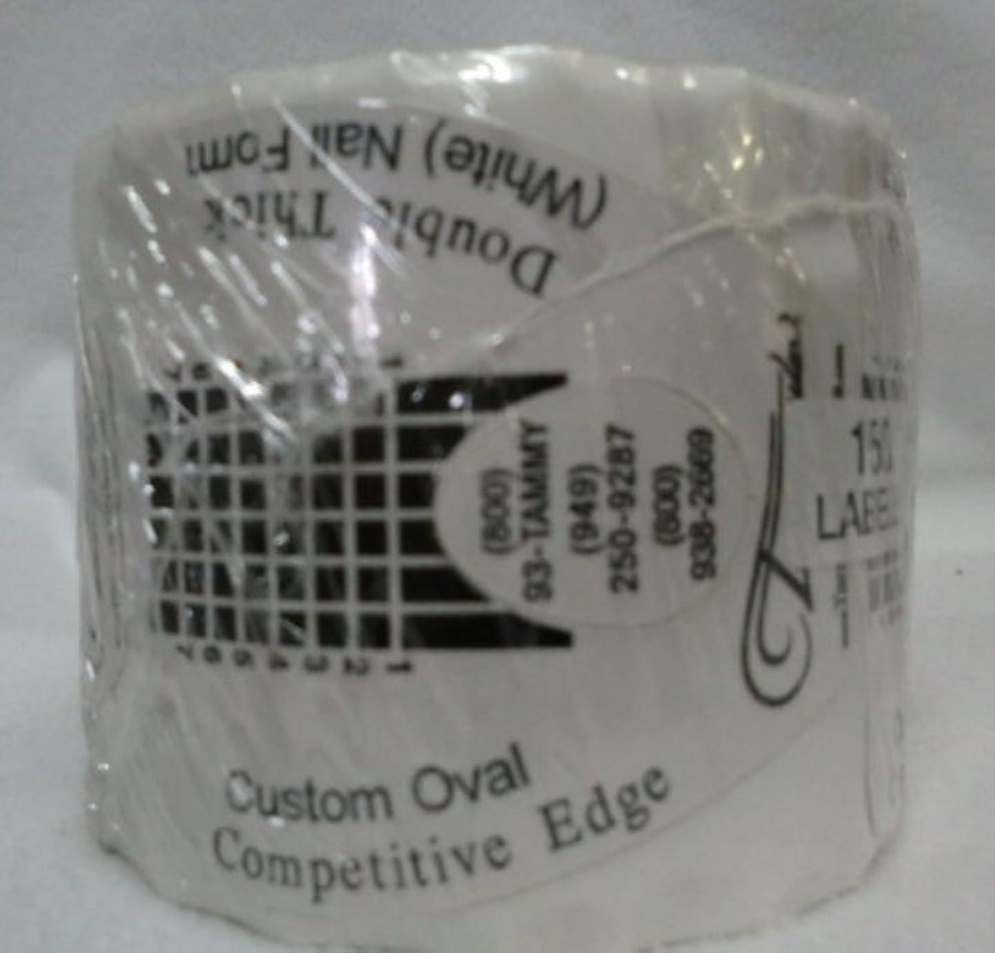 常習的無限運営Tammy Taylor Nail Forms - Competitive Edge Style Nail Forms - White Oval 150ct