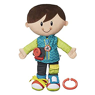 Playskool Dressy Kids Boy Activity Plush Stuffed Doll Toy for Kids and Preschoolers 2 Years and Up