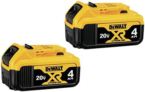 DEWALT 20V MAX XR Battery, 4.0-Ah, 2-Pack (DCB204-2)